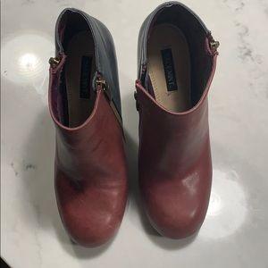 Shoemint Shoes - Shoemint Colorblock Zip Booties